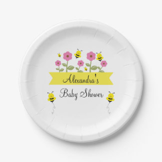 Bumble Bee Baby Shower Plates