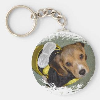 Bumble Bee Beagle Key Ring