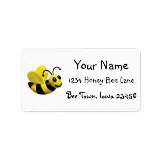 Bumble Bee Birthday Party Address Label