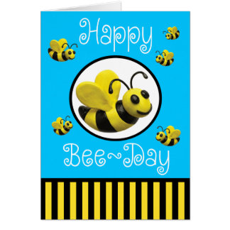 Bumble Bee Birthday Party Note Card