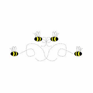 Bumble Bee Bow Ornament Photo Sculpture Decoration