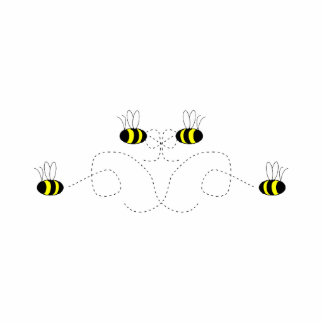 Bumble Bee Bow Ornament Photo Cut Outs