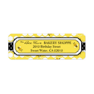 Bumble Bee Business Return Label