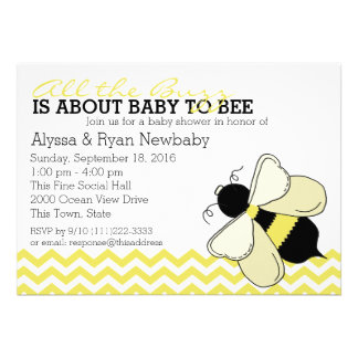 Bumble Bee Buzz Baby Shower Announcements