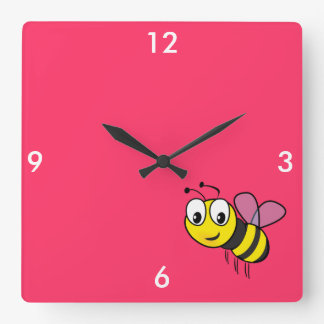 Bumble Bee, Buzz Square Wall Clock