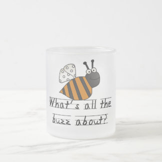 Bumble Bee Buzz Tshirts and Gifts Frosted Glass Mug