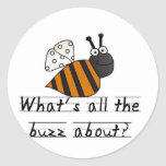 Bumble Bee Buzz Tshirts and Gifts Round Sticker