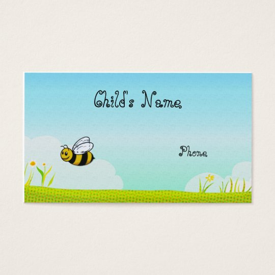Bumble Bee Children's Calling Card