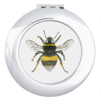 Bumble Bee Compact Pocket Mirror Travel Mirrors