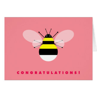 Bumble Bee Congratulations Card