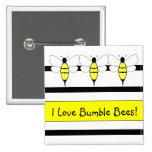 Bumble Bee Customisable Button