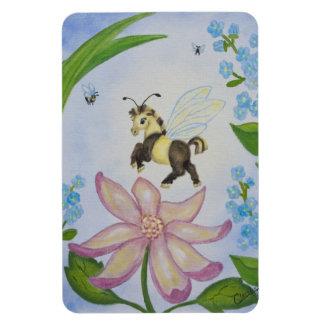 Bumble Bee Fantasy Horse Castle Magnet