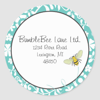 Bumble Bee Favor Sticker or Address Label