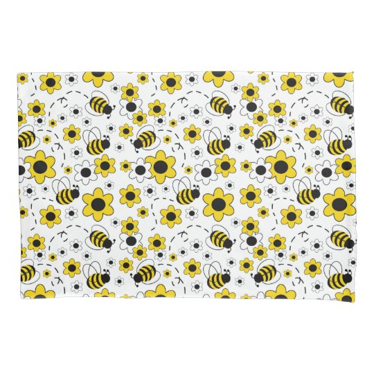 Bumble Bee Girl Yellow Floral Bedding Room Decor