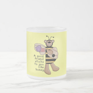 Bumble Bee Good Friend tshirts and Gifts Frosted Glass Mug