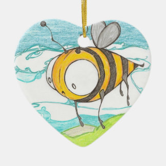 bumble bee heart ornament