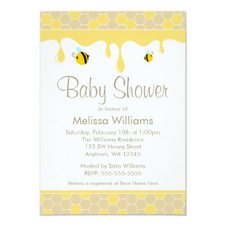 Bumble Bee Honey Baby Shower Invitations