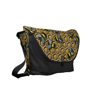 Bumble Bee Honeycomb Commuter Bags