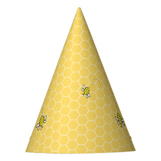 Bumble Bee Honeycomb Party Hats