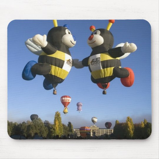 Bumble bee hot air balloons mouse pad. mouse pad