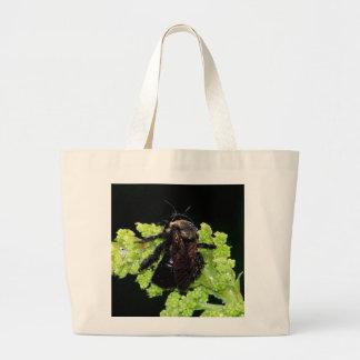 Bumble Bee In The Rain Tote Bag