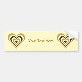 Bumble Bee Layered Heart Bumper Sticker