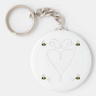 Bumble Bee Love Keychain