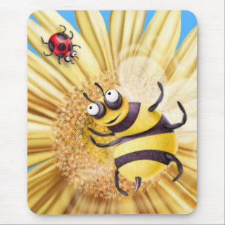BUMBLE BEE LOVING THE LADY BIRD MOUSE MAT