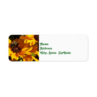 Bumble Bee on Black Eyed Susan Return Address Label