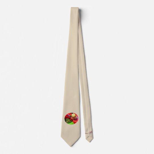 Bumble Bee on Poppy Tie