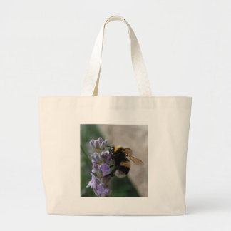 Bumble Bee On Valender Large Tote Bag