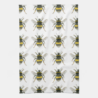 Bumble Bee Pattern Kitchen Towel