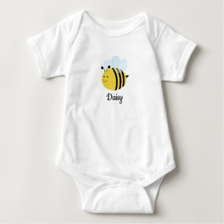 Bumble Bee Personalized Baby Bodysuit