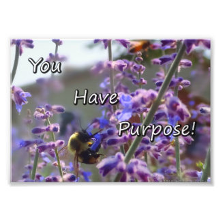 Bumble Bee Photo- You Have Purpose Art Photo