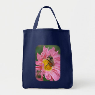 Bumble Bee Pink Daisy Flower Nature Tote Bag