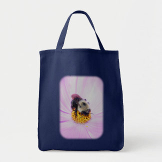 Bumble Bee Pink Flower Nature Tote Bag