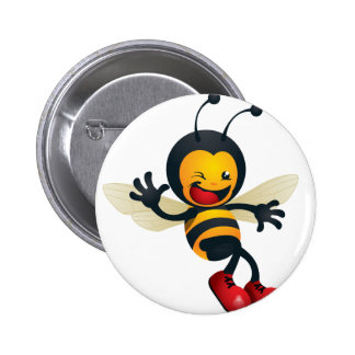 bumble_bee.png 6 cm round badge