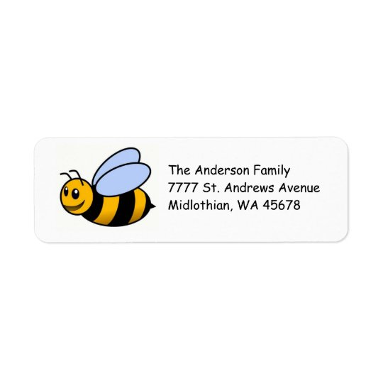 Bumble Bee Return Address Avery Label Return Address Label