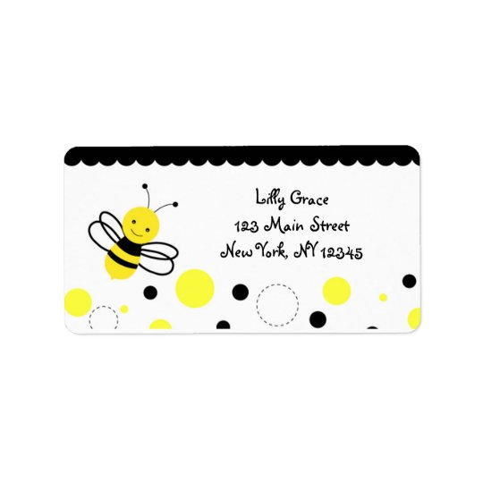 Bumble Bee Return Address Labels