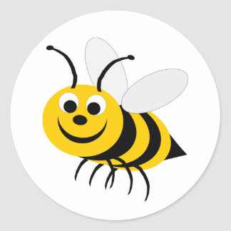 Bumble Bee Round Sticker