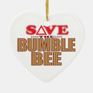 Bumble Bee Save Christmas Ornament