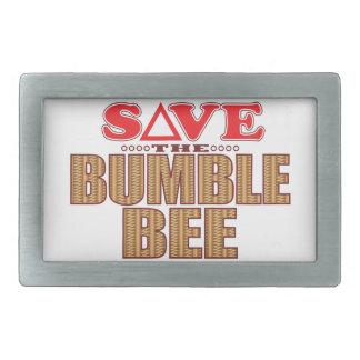 Bumble Bee Save Rectangular Belt Buckle