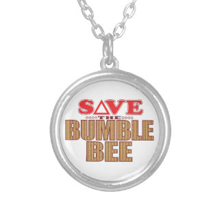 Bumble Bee Save Silver Plated Necklace