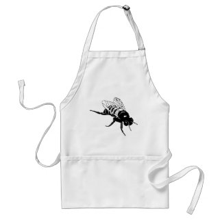 Bumble Bee Silhouette Aprons