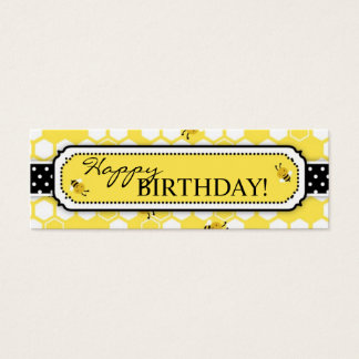 Bumble Bee Skinny Gift Tag 2