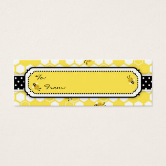 Bumble Bee Skinny Gift Tag Mini Business Card