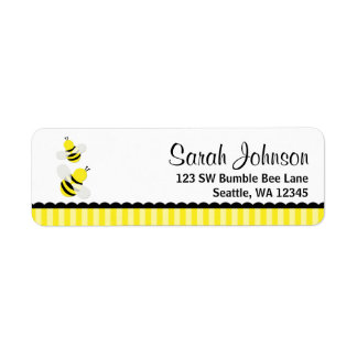 Bumble Bee Striped Return Address