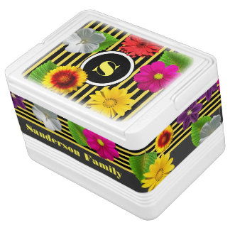 Bumble Bee Stripes & Flowers Igloo Cooler