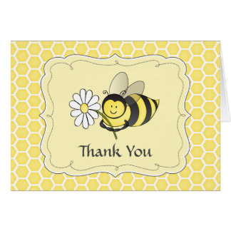 Bumble Bee Thank You Note Note Card