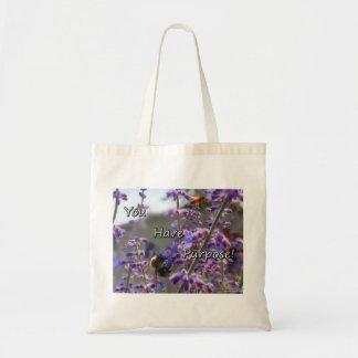 Bumble Bee Tote Bag-You Have Purpose Budget Tote Bag